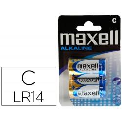 Pila maxell alcalina 1,5 v tipo c lr14 blister de 2 unidades