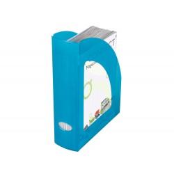 Revistero plastico q-connect azul translucido