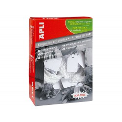 Etiquetas colgantes apli 391 28x43 mm caja de 500 unidades
