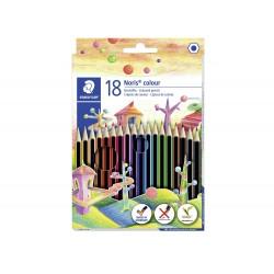 Lapices de colores staedtler wopex ecologico 18 colores...