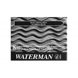 Tinta estilografica waterman negra -caja de 8 cartuchos...