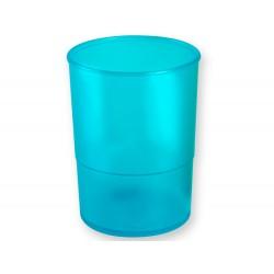 Cubilete portalapices q-connect plastico azul translucido
