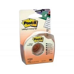 Cinta adhesiva post-it 18x25 mm 6 lineas en portarrollos...