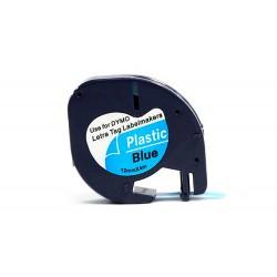 Cinta q-connect 12mm x 4mt negro-ultra azul para maquina...