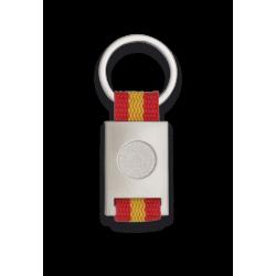 Llavero Metalico bandera de España con circulo