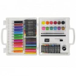 Estuche de pintura Stetro caja de plástico 67 piezas maletin
