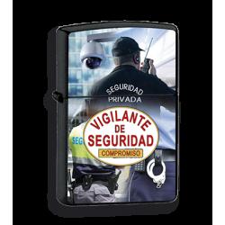 Mechero negro Vigilante Seguridad imitacion zippo