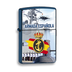 Mechero Azul Armada Española imitacion zippo