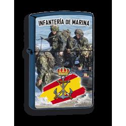 Mechero Azul Infanteria Marina imitacion zippo