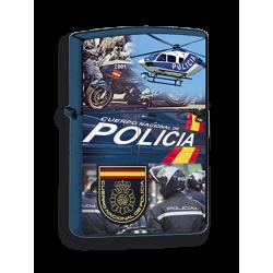 Mechero Azul Policia Nacional imitacion zippo