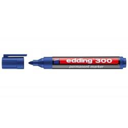 Rotulador edding marcador permanente 300 azul punta...