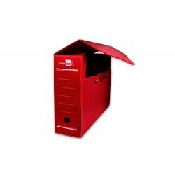 Caja archivo definitivo plastico liderpapel rojo...