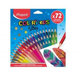 Lapices de colores maped color peps star caja de 72...