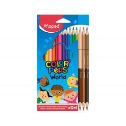Lapices de colores maped color peps world caja de 12...