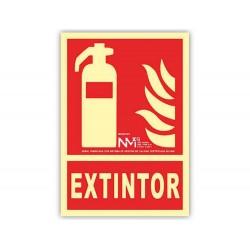 Pictograma archivo 2000 extintor pvc rojo luminiscente...
