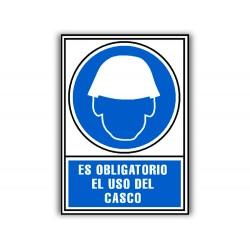 Pictograma archivo 2000 obligatorio uso de casco pvc azul...