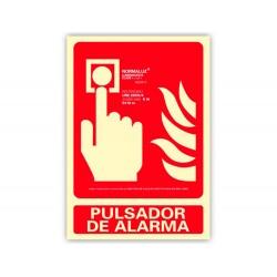 Pictograma archivo 2000 pulsador de alarma pvc rojo...