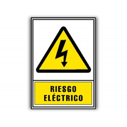 Pictograma archivo 2000 riesgo electrico pvc amarillo...