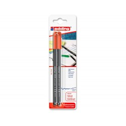 Rotulador edding punta fibra 1200 rojo n.2 punta redonda...