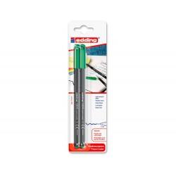 Rotulador edding punta fibra 1200 verde n.4 punta redonda...