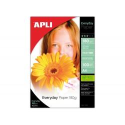 Papel fotografico apli glossy din a4 pack 100 hojas de...