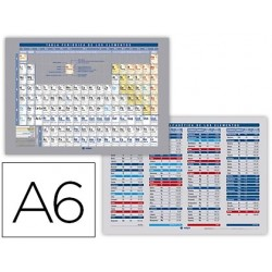 Tabla periodica de elementos impresa a doble cara...