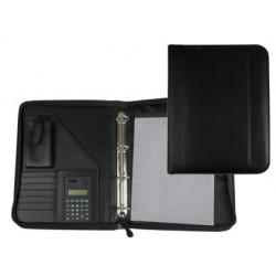 Carpeta portafolios 80-848 negra 260x355 mm cremallera 4...
