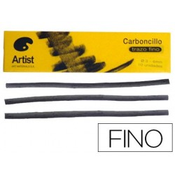 Carboncillo artist fino 3-4 mm caja de 10 barras