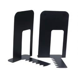 Apoyalibros metalico q-connect kf00837 negro -juego...