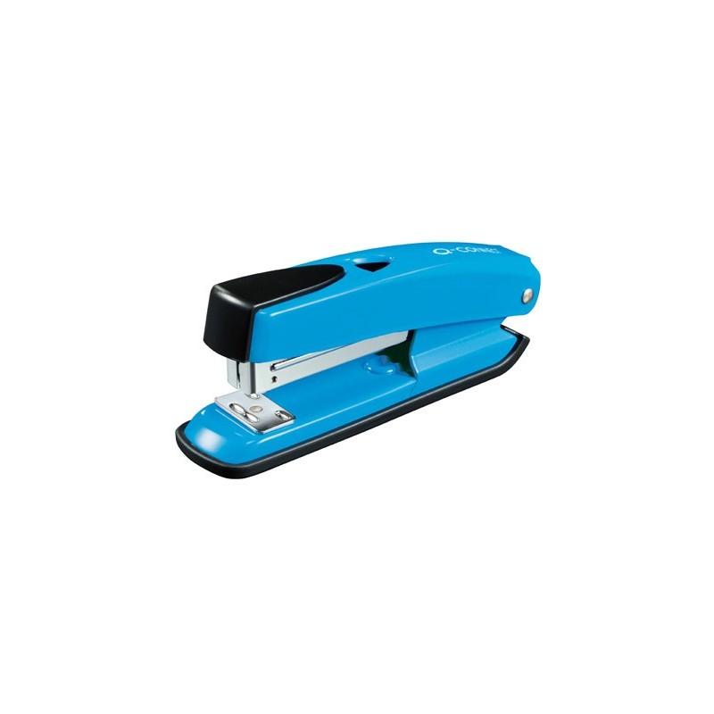Grapadora q-connect kf02151 plastico abs azul -capacidad 20 hojas