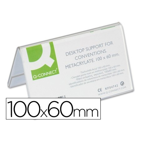 Identificadores sobremesa q-connect metacrilato tamaño 100x60 mm ref.5729