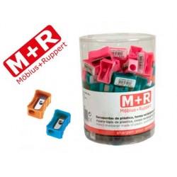 Sacapuntas mor 304 plastico rectangular 1 uso colores...