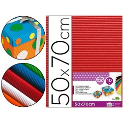 Carton ondulado liderpapel 50 x 70cm 320g/m2 rojo