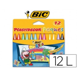 Lapices cera plastidecor peque s caja de 12 colores