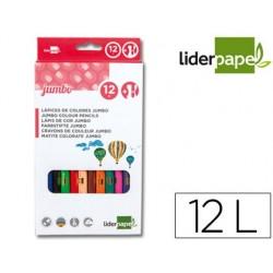 Lapices de colores liderpapel c/ de 12 colores jumbo con...