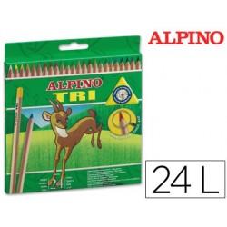 Lapices de colores alpino tri estuche de 24 colores surtidos