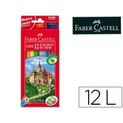 Lapices de colores faber-castell c/ 12 colores hexagonal...