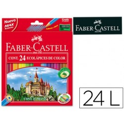 Lapices de colores faber-castell c/ 24 colores hexagonal...