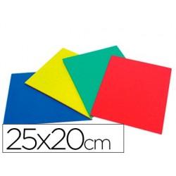 Caucho color plancha 25x20cm -bolsa de cuatro