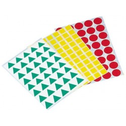 Gomets figuras geometricas 993 -bolsa con 12 hojas