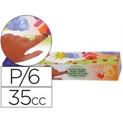 Pintura a dedos jovi 35 cc -5 colores surtidos