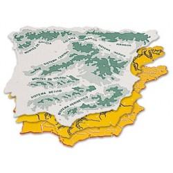 Plantilla plastico mapa españa -bolsa de 3 22x18 cm.