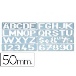 Plantilla rotulacion 1700 -letras y numeros de 50 mm