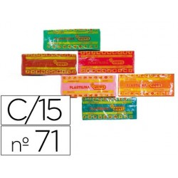 Plastilina jovi 71 surtida -tamaño mediano -caja de 15...