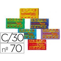 Plastilina jovi 70 surtida -tamaño pequeño -caja de 30...