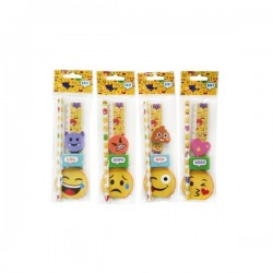 SET 5 PCS PAPELERIA EMOTICONOS DE REGALO